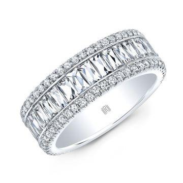 Rahaminov Diamonds French Baguette 18K White Gold Band