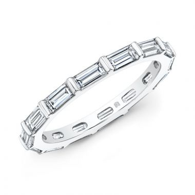 Rahaminov Diamonds Baguette 18K White Gold Bar Band